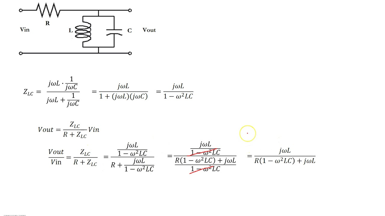 frequency response rlc circuit [ 1280 x 720 Pixel ]