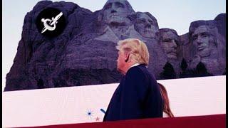 """Trump en Monte Rushmore. Unanimidad mediática: """"Un Discurso para la Crispación"""".-"""