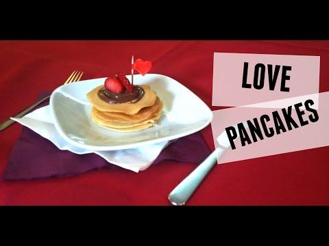 A Valentine's surprise - Love Pancakes | stop motion - recipe