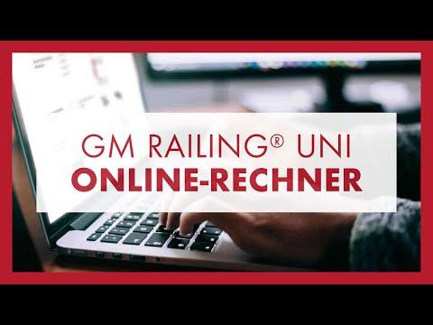 GM RAILING® UNI Online-Rechner: Anleitung