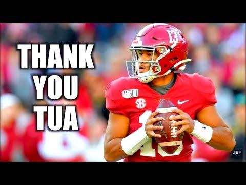 """""""Thank You Tua""""    Alabama QB Tua Tagovailoa Career Highlights ᴴᴰ"""