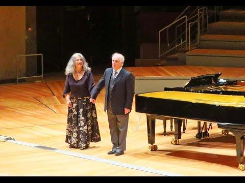 Applaus Daniel Barenboim - Martha Argerich Philharmonie Berlin