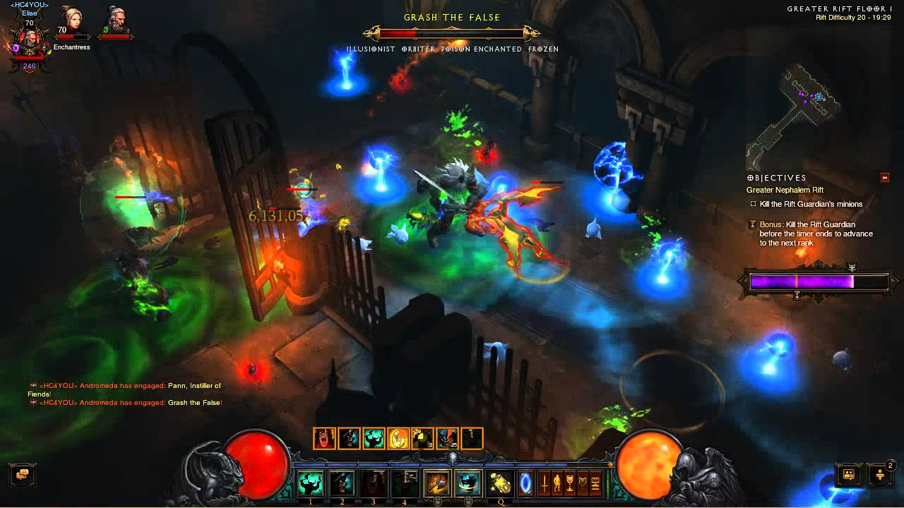 Greater Rift level 20 Solo Barbarian Diablo III - YouTube