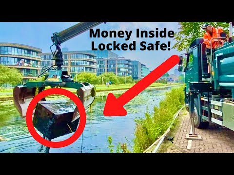 HUGE SAFE FOUND With MONEY INSIDE In The River *CRANE NEEDED*