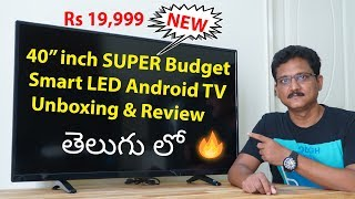 40 inch Super Budget Smart Android LED TV Review in Telugu...