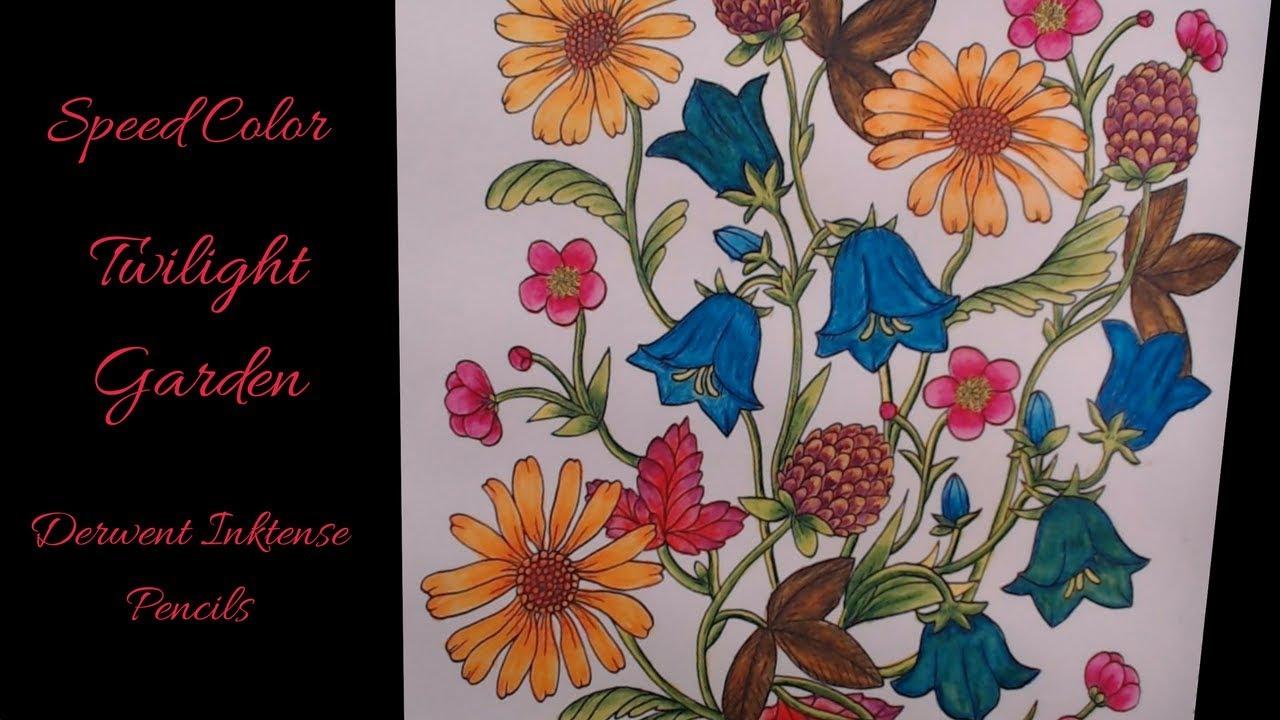 Twilight Garden Derwent Inktense Pencils Speed Color