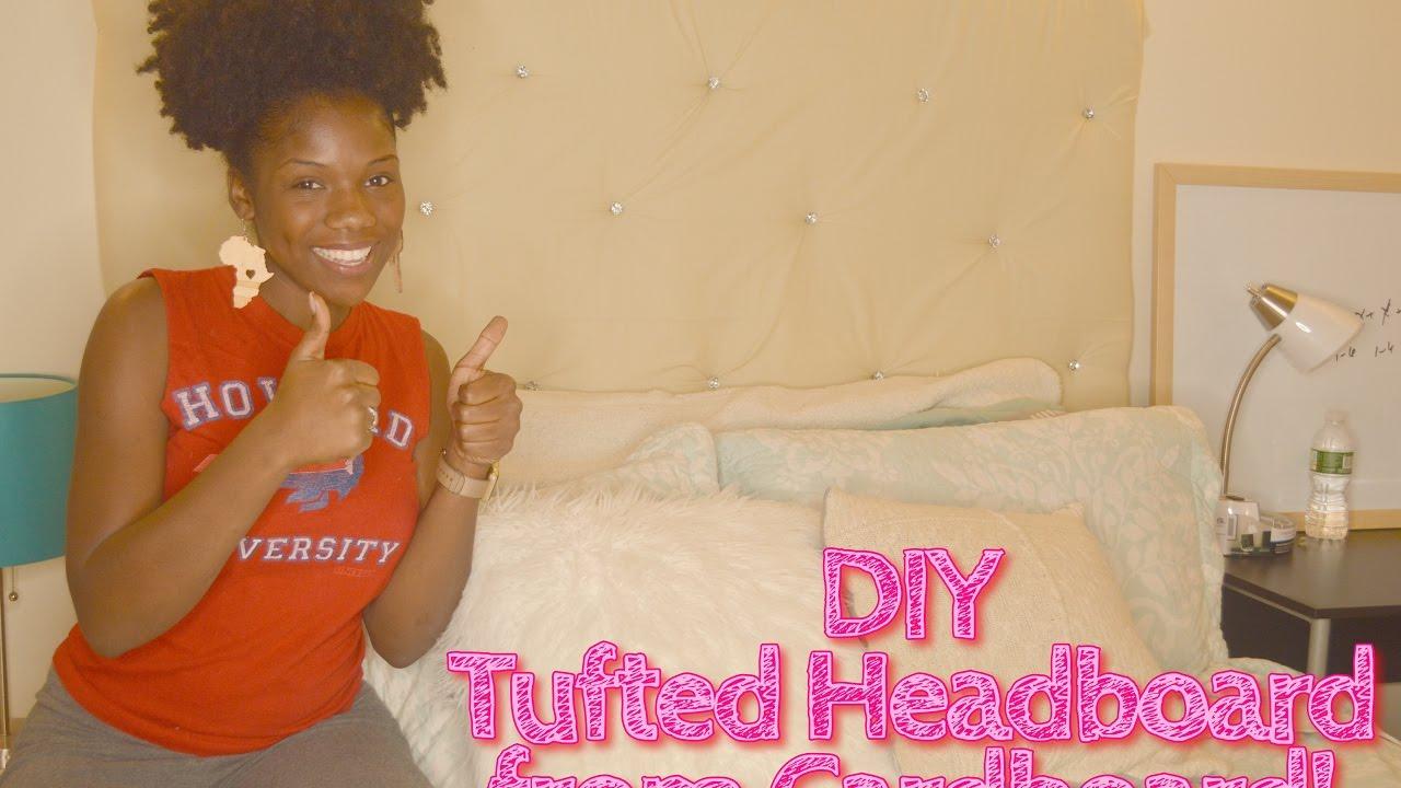 Diy Diamond Tufted Headboard Made W Cardboard Super Easy