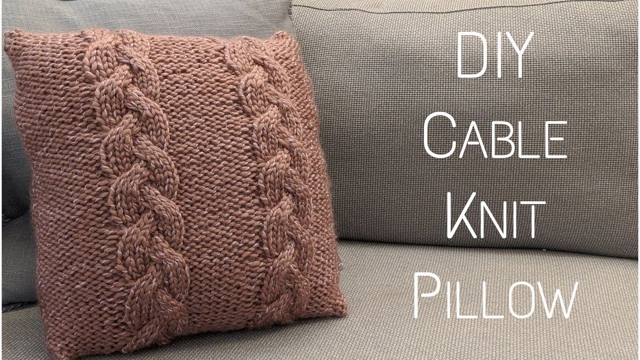 diy cable knit pillow step by step tutorial knitting house square