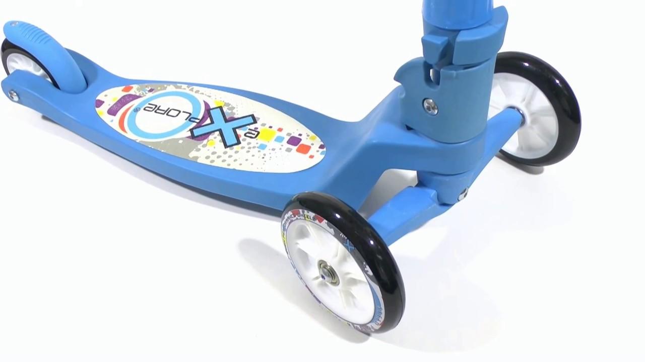 Обзор трехколесного самоката для детей 2-3 лет - Razor T3 - YouTube