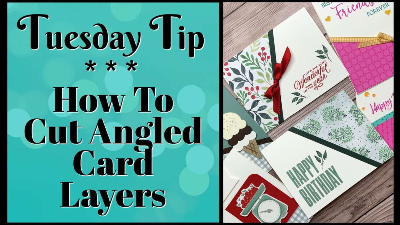 How I Made 2 Angled Cards In Simple Steps | Designer Paper Cards You'll Love