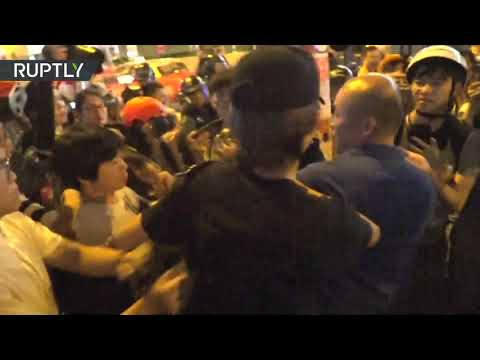 Molotovs v water cannons: Violence continues during Hong Kong protests