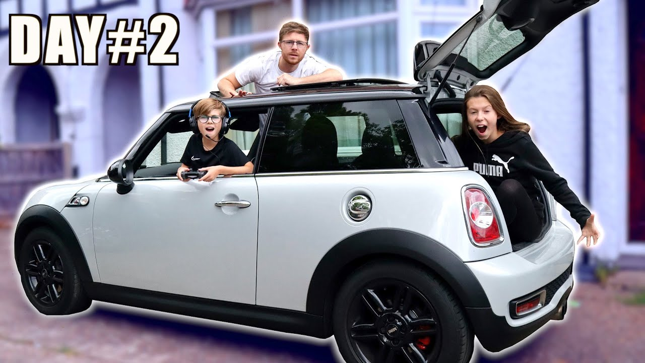 LAST TO LEAVE THE MINI CAR WINS! *WE LEAKED OUR HOUSEPARTY NAME! 🙈