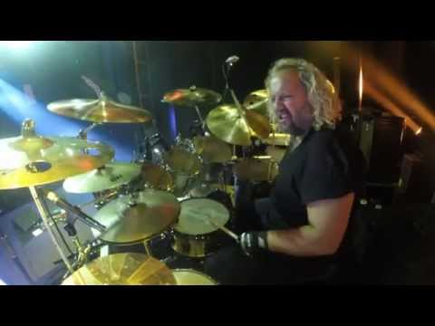 "Tal Bergman's DrumCam.Drumming behind guitar solo on ""Oh Beautiful"" Adelaide Australia"