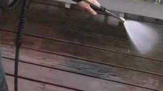 how to clean a wood deck with a gas pressure washer