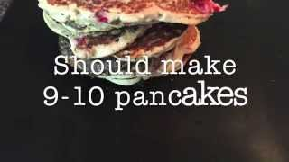 100% Natural Banana Raspberry and Oat Pancakes - Gluten Free, Flourless, Low Calorie