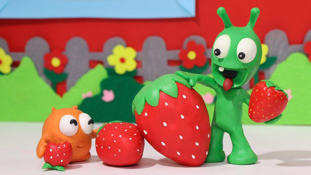 Pea Pea & Boom Strawberry Hacks - Funny Stop Motion Kids Cartoon