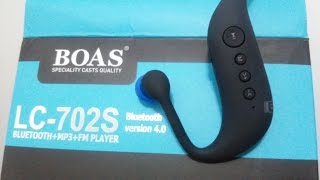 UNBOXING Headphones Fone de Ouvido Bluetooth - Marca BOAS LC-702S - MP3 + FM Player
