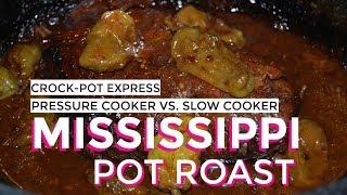 Mississippi Pot Roast Crock-Pot Express Pressure Cooker and Slow Cooker Challenge