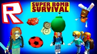ROBLOX, Super Bomb Survival, Lily & Gia Play with Bombs?! OMG!! PTRC