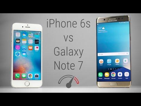 Galaxy Note 7 vs iPhone 6S Speedtest Comparison