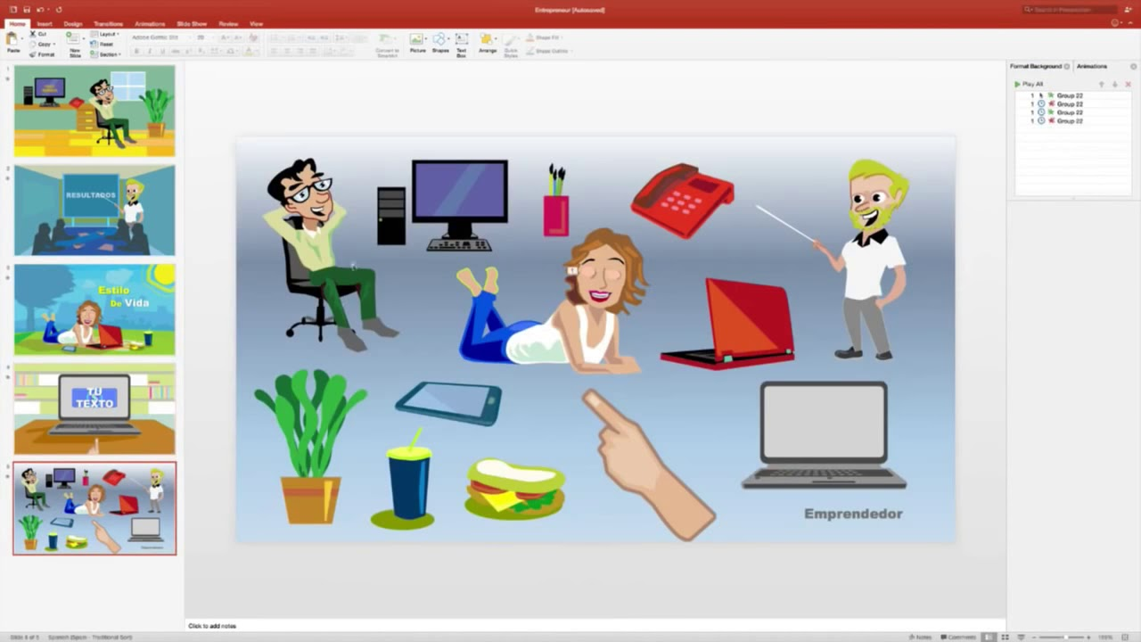 Como Crear Videos Animados En Minutos Con Powerpoint Youtube