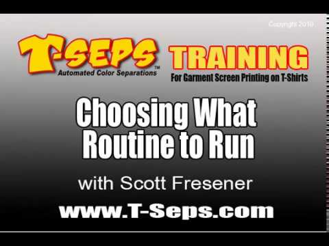 T-Seps What Routine to Run
