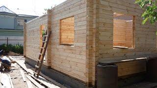 Сборка дома из профилированного бруса(Узнайте как собирается экологичный дом из профилированного бруса. Дом, в котором легко дышится и запах..., 2016-08-04T04:26:18.000Z)