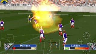 SWEDEN vs FRANCE - Super Shot Soccer - ePSXe Android Gameplay