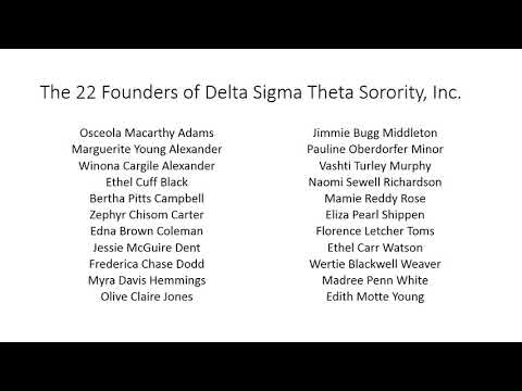 Delta Sigma Theta Sorority 101 Founders