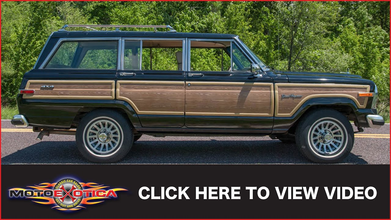 Jeep Grand Wagoneer >> 1991 Jeep Grand Wagoneer Final Edition (SOLD) - YouTube
