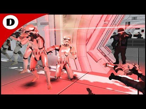STORMTROOPERS BOARD THE TANTIVE IV - Men of War: Star Wars Mod