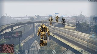 GTA V PC - Ironman Enemy and Ally features + Hammer Drone armor