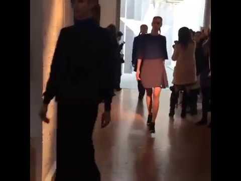 At Georgia Hardinge London fashion week show
