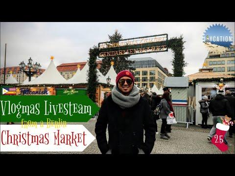 VLOGMAS LIVESTREAM FROM THE BERLIN CHRISTMAS MARKET🎄🇩🇪