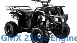 GMX 250cc Farm Quad ATV Bike 2013 Black 4X4 Quads 4 Wheelers all terrain vehicle
