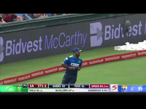 South Africa vs Sri Lanka - 5th ODI - AB de Villiers - Wicket