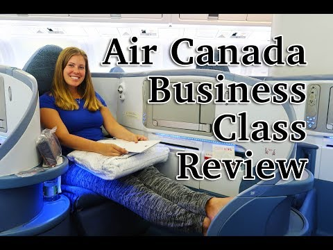AIR CANADA BUSINESS CLASS REVIEW - 'Pod seating'