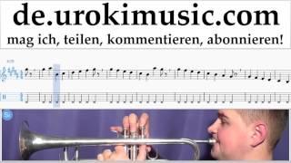 Trompetenunterricht Mo-Torres, Cat Ballou & Lukas Podolski - Liebe deine Stadt Noten Lernen Teil#1
