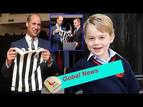 Prince William receives gift for George in Newcastle which may cause ROYAL DISAGREEMENT