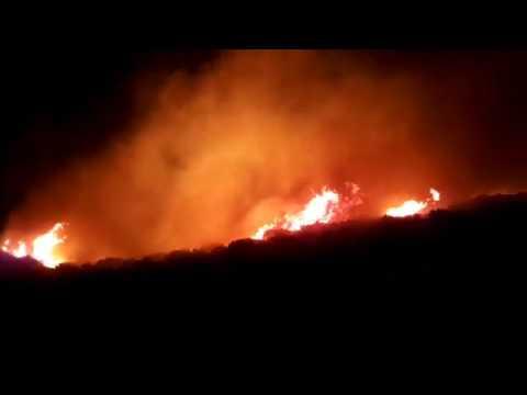 Brush fire at Kalyvia Thorikou, Athens Greece