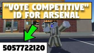 VOTE COMPETITIVE* Megaphone Id for ROBLOX Arsenal YouTube