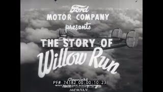 "BUILDING THE B-24 BOMBER DURING WWII  "" STORY OF WILLOW RUN "" 74182"