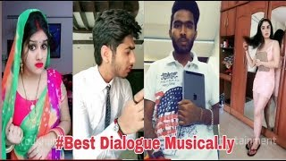 BEST Dialogue Musical.ly India Compilation😂🤣 2018 | Best  Musically Videos || You Khub Entertainment
