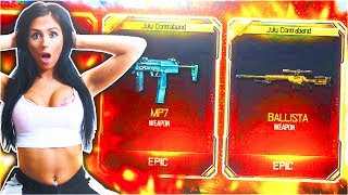 GIRLFRIEND UNLOCKS NEW DLC WEAPONS BLACK OPS 3! - BO3 FREE NEW SUPPLY DROP WEAPONS! (CALL OF DUTY)