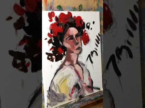 Oil painting Portrait Modern Impressionism Demo by JOSE TRUJILLO