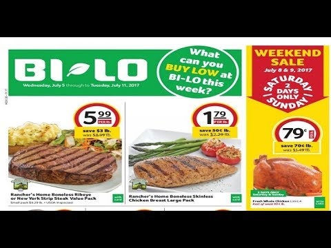 bi lo weekly ad spartanburg sc 2 day sale july 8 9 2017 YouTube