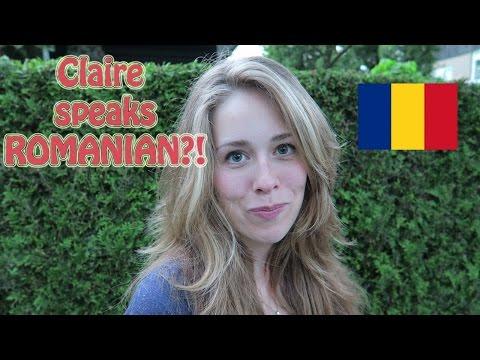 DUTCH girl speaks ROMANIAN??!