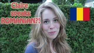 DUTCH girl speaks ROMANIAN!