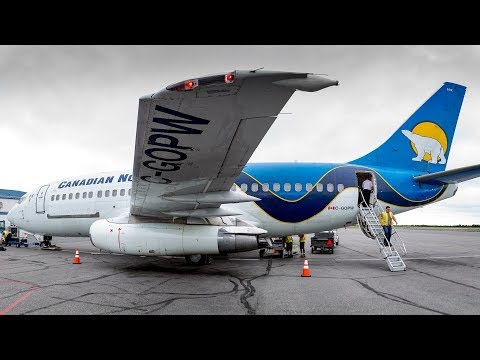 TRIP REPORT   Canadian North Boeing 737-200 COMBI Edmonton To Yellowknife