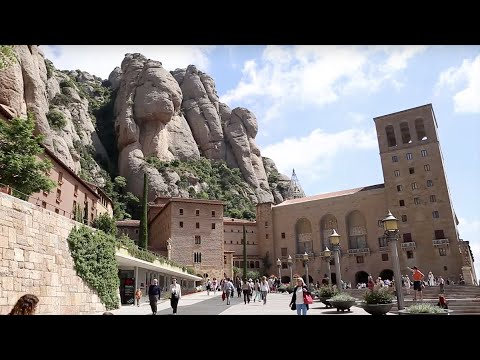 The Monastery of Monserrat in Spain